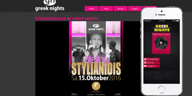 Greek Nights App